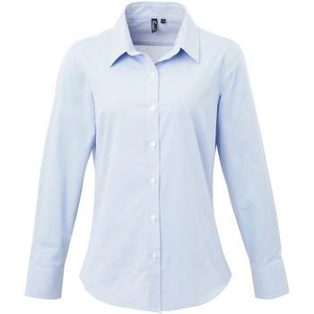 Abbigliamento Donna Camicie Premier PR320 Azzurro/Bianco