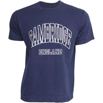 Abbigliamento Uomo T-shirt maniche corte Cambridge University  Blu navy