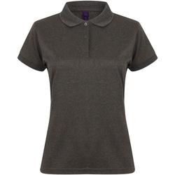Abbigliamento Donna Polo maniche corte Henbury Coolplus Carbone