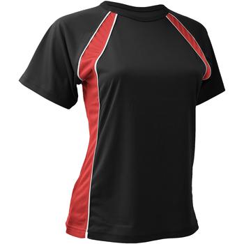 Abbigliamento Donna T-shirt maniche corte Finden & Hales LV251 Nero/Rosso/Bianco