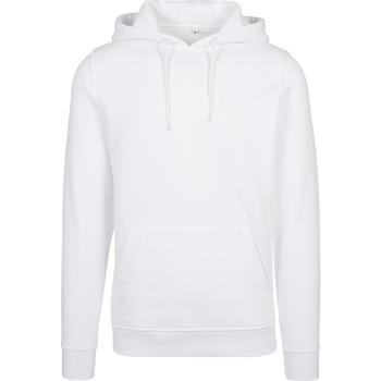 Abbigliamento Uomo Felpe Build Your Brand BY011 Bianco