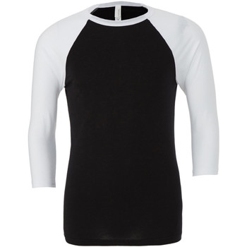 Abbigliamento Uomo T-shirts a maniche lunghe Bella + Canvas CA3200 Nero/Bianco