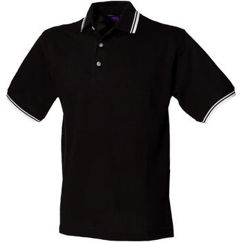 Abbigliamento Uomo Polo maniche corte Henbury HB150 Nero/Bordo bianco