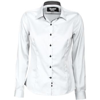 Abbigliamento Donna Camicie J Harvest & Frost JF006 Bianco/Nero