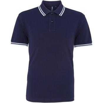 Abbigliamento Uomo Polo maniche corte Asquith & Fox AQ011 Blu Navy/Bianco