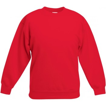 Abbigliamento Unisex bambino Felpe Fruit Of The Loom  Rosso
