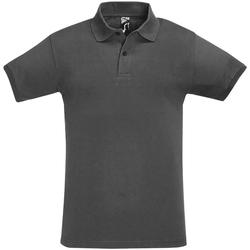Abbigliamento Uomo Polo maniche corte Sols 11346 Grigio scuro