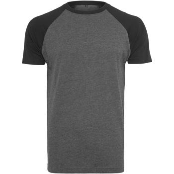 Abbigliamento Uomo T-shirt maniche corte Build Your Brand BY007 Carbone/Nero