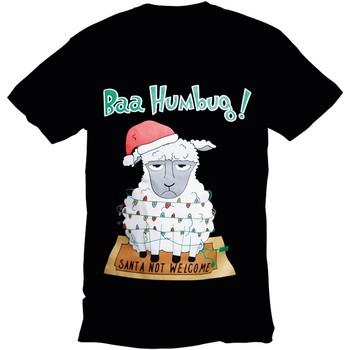 Abbigliamento Uomo T-shirt maniche corte Christmas Shop 178642 Nero Bah Humbug