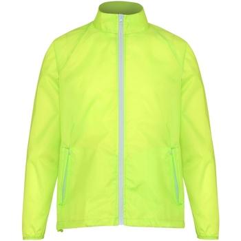 Abbigliamento Uomo giacca a vento 2786  Giallo/Bianco