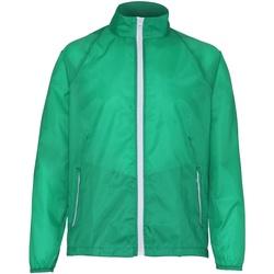 Abbigliamento Uomo giacca a vento 2786  Verde Kelly/Bianco