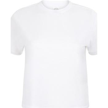 Abbigliamento Donna T-shirt maniche corte Skinni Fit Cropped Boxy Bianco