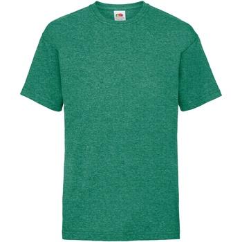 Abbigliamento Unisex bambino T-shirt maniche corte Fruit Of The Loom 61033 Verde screziato retro