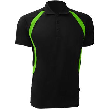 Abbigliamento Uomo Polo maniche corte Gamegear Riviera Nero/Lime fluorescente