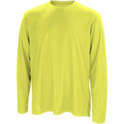 Abbigliamento Uomo T-shirts a maniche lunghe Spiro S254M Verde lime