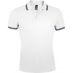 Abbigliamento Uomo Polo maniche corte Sols Pasadena Bianco/Blu navy