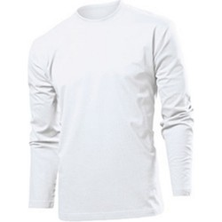 Abbigliamento Uomo T-shirts a maniche lunghe Stedman  Bianco