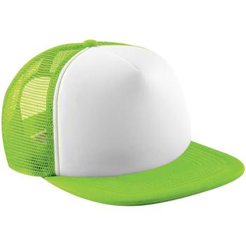 Accessori Unisex bambino Cappellini Beechfield B645B Verde lime/Bianco
