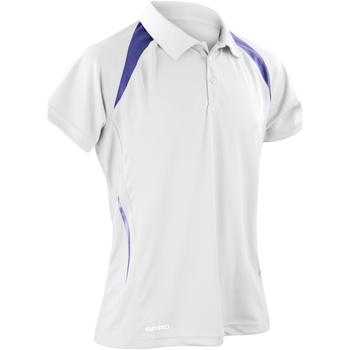 Abbigliamento Uomo Polo maniche corte Spiro S177M Bianco/Blu navy