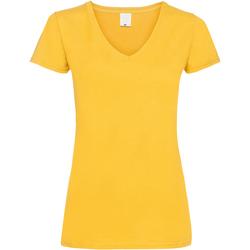 Abbigliamento Donna T-shirt maniche corte Universal Textiles Value Dorato