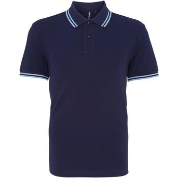 Abbigliamento Uomo Polo maniche corte Asquith & Fox AQ011 Blu Navy/Azzurro
