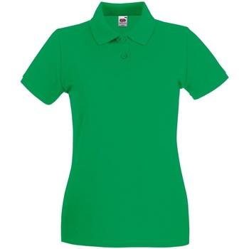 Abbigliamento Donna Polo maniche corte Fruit Of The Loom 63030 Verde kelly