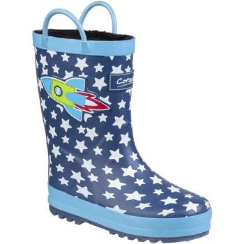 Scarpe Unisex bambino Stivali da pioggia Cotswold Sprinkle Blu