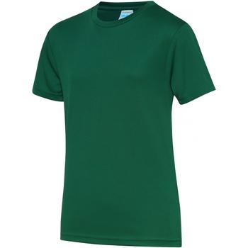 Abbigliamento Unisex bambino T-shirt maniche corte Awdis JC01J Verde bottiglia