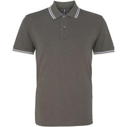 Abbigliamento Uomo Polo maniche corte Asquith & Fox AQ011 Carbone/Bianco
