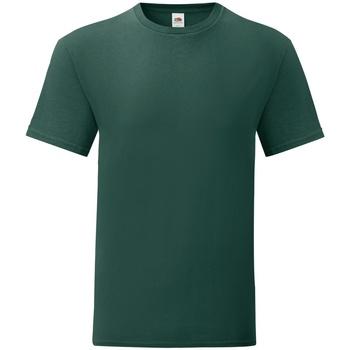 Abbigliamento Uomo T-shirt maniche corte Fruit Of The Loom 61430 Verde foresta