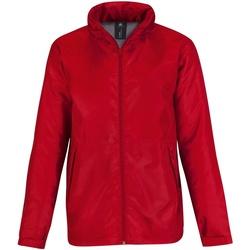 Abbigliamento Uomo giacca a vento B And C JM825 Rosso/ Grigio