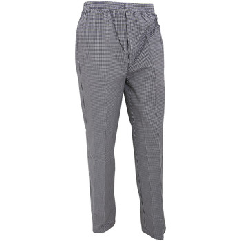 Abbigliamento Pantaloni morbidi / Pantaloni alla zuava Premier PR552 Nero/Scacchi bianchi
