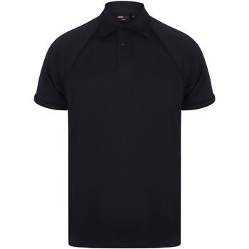 Abbigliamento Uomo Polo maniche corte Finden & Hales Piped Blu navy