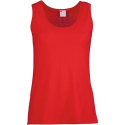 Abbigliamento Donna Top / T-shirt senza maniche Universal Textiles Fitted Rosso