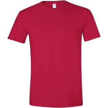 Abbigliamento Uomo T-shirt maniche corte Gildan Soft-Style Rosso ciliegia
