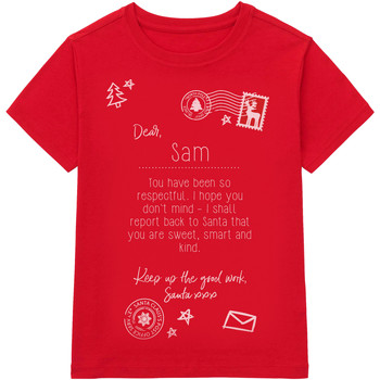 Abbigliamento Unisex bambino T-shirt maniche corte Christmas Shop CS145 Rosso