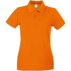Abbigliamento Donna Polo maniche corte Universal Textiles 63030 Arancione brillante
