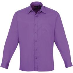 Abbigliamento Uomo Camicie maniche lunghe Premier PR200 Viola Intenso
