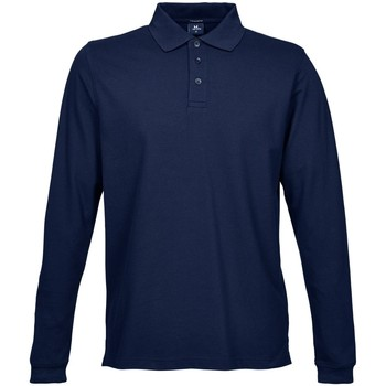 Abbigliamento Uomo Polo maniche lunghe Tee Jays TJ1406 Blu navy