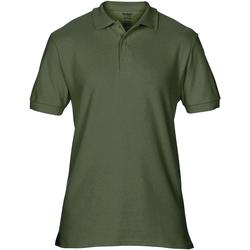 Abbigliamento Uomo Polo maniche corte Gildan Premium Verde Militare