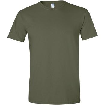 Abbigliamento Uomo T-shirt maniche corte Gildan Soft-Style Verde militare