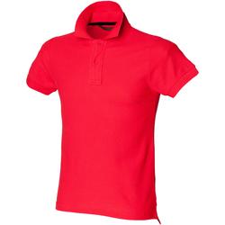 Abbigliamento Uomo Polo maniche corte Skinni Fit SFM47 Rosso acceso