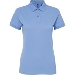 Abbigliamento Donna Polo maniche corte Asquith & Fox AQ025 Azzurro