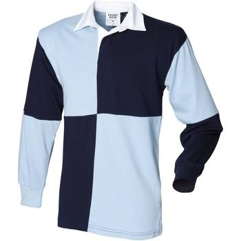 Abbigliamento Uomo Polo maniche lunghe Front Row FR02M Blu navy/Azzurro