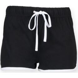 Abbigliamento Unisex bambino Shorts / Bermuda Skinni Fit SM069 Nero/Bianco
