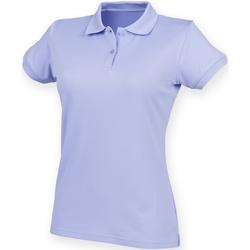 Abbigliamento Donna Polo maniche corte Henbury Coolplus Lavanda