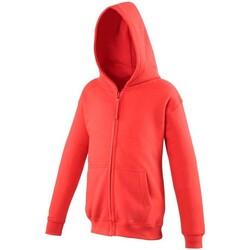 Abbigliamento Unisex bambino Felpe Awdis JH50J Rosso fuoco
