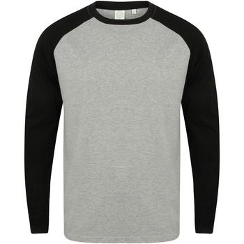 Abbigliamento Uomo T-shirts a maniche lunghe Skinni Fit SF271 Erica grigia/Nero