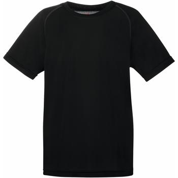 Abbigliamento Unisex bambino T-shirt maniche corte Fruit Of The Loom 61013 Nero