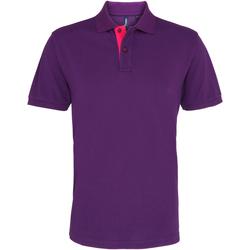 Abbigliamento Uomo Polo maniche corte Asquith & Fox AQ012 Viola/Rosa